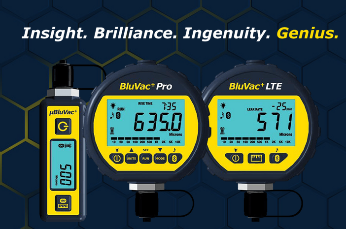 BluVac Digital vacuum Gauges
